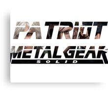 Metal gear solid PATRIOT-tshirt Canvas Print