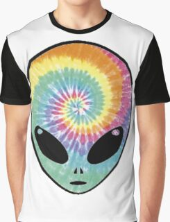 alien tie dye Graphic T-Shirt