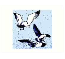 Birds - Life is good Art Print