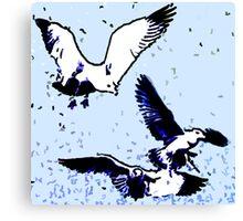 Birds - Life is good Canvas Print