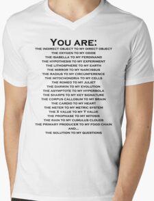 Nerdy Romantic Shirt For Guys or Girls Mens V-Neck T-Shirt
