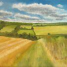 Farmland near Cowden Hill by Susan Duffey