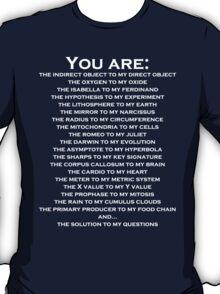 Nerdy Romantic Shirt For Guys or Girls  T-Shirt