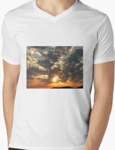 Sunrise on the Inlet Mens V-Neck T-Shirt