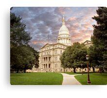 Michigan State Capital Canvas Print