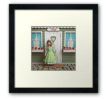 Vintage Girl Framed Print