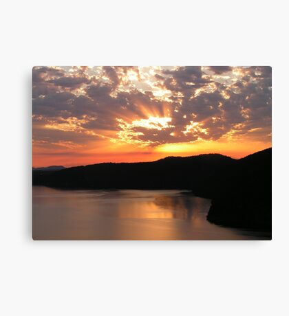 Sunrise Over Saanich Inlet Canvas Print