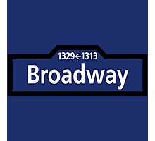 Broadway, New York Street Sign, USA Photographic Print