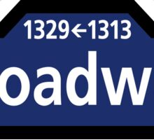 Broadway, New York Street Sign, USA Sticker