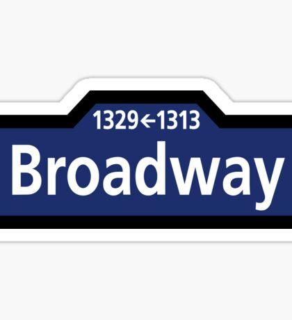 Broadway, New York Street Sign, USA Sticker