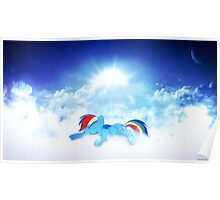 Sunset Rainbow Poster