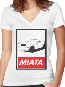 Obey Miata Women's Fitted V-Neck T-Shirt