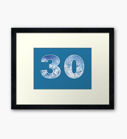 30 (Ice) Framed Print