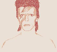 David Bowie Text Portrait by yigitsen