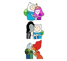The Many Loves of Finn the Human - Adventure Time Photographic Print