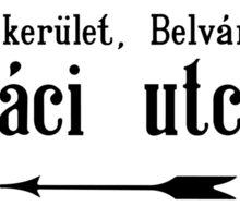 Vaci Utca, Street Sign, Budapest, Hungary Sticker