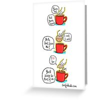 Love is a mug's game Greeting Card