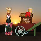 Donuts Junk Christmas Card - Cart and Bottle by Donuts