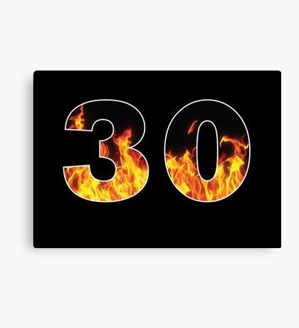 30 (Fire) Canvas Print