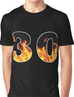30 (Fire) Graphic T-Shirt