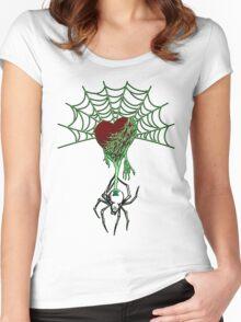 Black Widow (Green) Women's Fitted Scoop T-Shirt