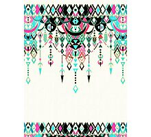 Modern Deco in Pink and Turquoise Photographic Print