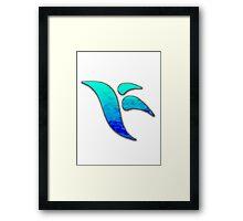 Kirwan Logo - Blue Fade Framed Print