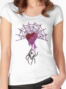 Black Widow (Purple) Women's Fitted Scoop T-Shirt