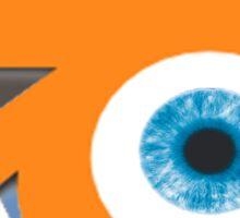 Orange eye with blue eyeball (Blender Logo) Sticker