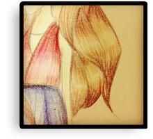 Girl's Hair Canvas Print