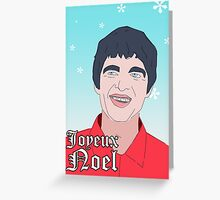Joyeux Noel Gallagher Christmas card (OASIS) Greeting Card