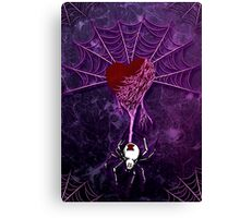 Black Widow (Purple) Canvas Print