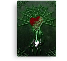 Black Widow (Green) Canvas Print