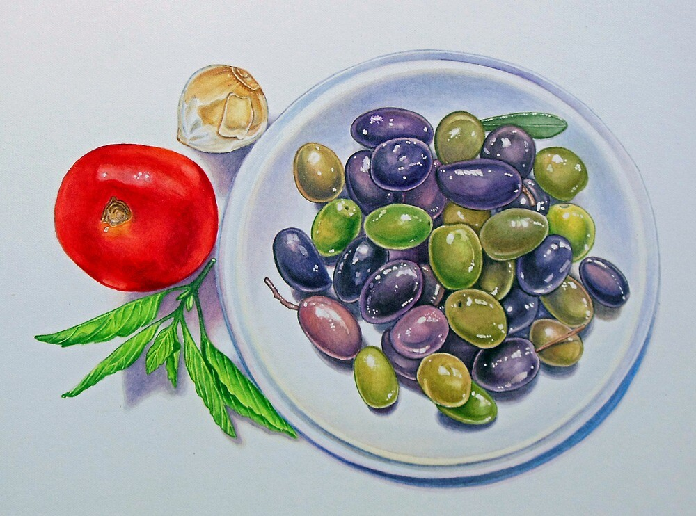 Olive Plate by joeyartist