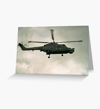 Navy Lynx  Greeting Card