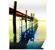 Rainbow Pier Poster