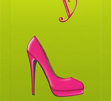 Stylish pink shoe for her, monogram Y by Monartcanadian