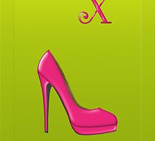 Stylish pink shoe for her, monogram X by Monartcanadian