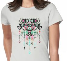 Modern Deco in Pink and Turquoise Womens Fitted T-Shirt