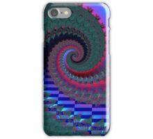 Blue Red Green Fractal Spiral iPhone Case/Skin