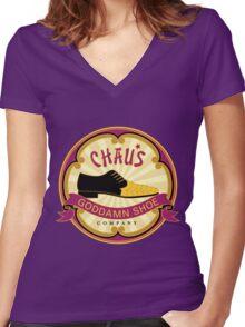 Chau's Goddamn Shoe Company Women's Fitted V-Neck T-Shirt