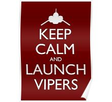 Keep Calm and Launch Vipers (Red) Poster