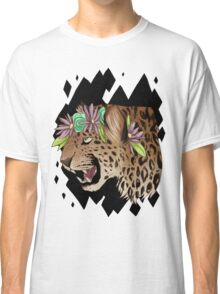 Flower Crown Leopard Classic T-Shirt