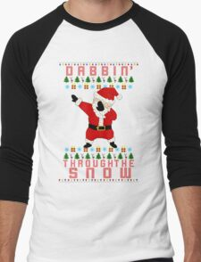 Dabbing Santa Men's Baseball ¾ T-Shirt