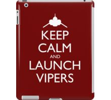 Keep Calm and Launch Vipers (Red) iPad Case/Skin