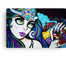 Psychedelic Graffiti Beauty Canvas Print