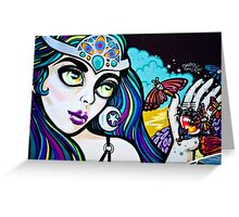 Psychedelic Graffiti Beauty Greeting Card