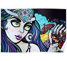 Psychedelic Graffiti Beauty Poster