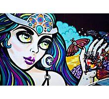 Psychedelic Graffiti Beauty Photographic Print
