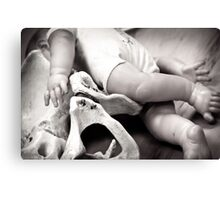 Demo Baby Doll  and Pelvis Canvas Print